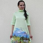 """Одежда ручной работы. Ярмарка Мастеров - ручная работа платье """" Як тiльки сонечко зiйде"""". Handmade."""