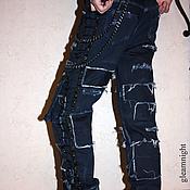 Одежда ручной работы. Ярмарка Мастеров - ручная работа Неформальные джинсы. Handmade.
