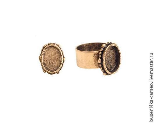 Для украшений ручной работы. Ярмарка Мастеров - ручная работа. Купить Основа для кольца Винтаж 10х14мм, ND античное золото (1шт). Handmade.