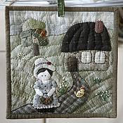 """Картины и панно ручной работы. Ярмарка Мастеров - ручная работа панно """"Летний домик"""". Handmade."""
