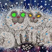 """Картины и панно ручной работы. Ярмарка Мастеров - ручная работа Панно """"Зима пришла"""". Handmade."""