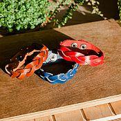 Украшения handmade. Livemaster - original item Bracelets: Bracelet braided leather. Handmade.