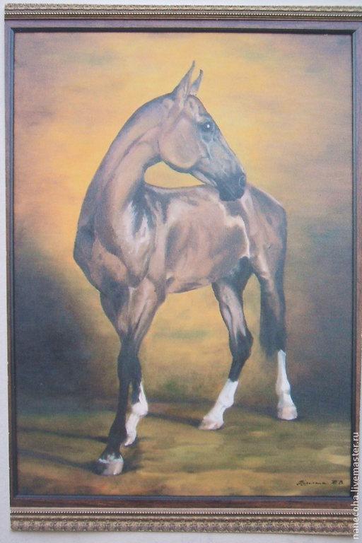 Животные ручной работы. Ярмарка Мастеров - ручная работа. Купить Лошади. Handmade. Кремовый, конь, портрет, картина с лошадью, масло