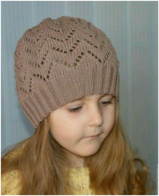 Шапки и шарфы ручной работы. Ярмарка Мастеров - ручная работа. Купить Весенняя летняя шапочка для девочки, ажурная шапочка, ажурный берет. Handmade.