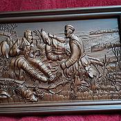 Картины ручной работы. Ярмарка Мастеров - ручная работа Охотники на привале. Handmade.
