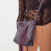 Сумки и аксессуары handmade. Livemaster - original item Purple Soft crossbody bag with crossbody strap. Handmade.