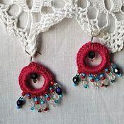Украшения handmade. Livemaster - original item Crimson earrings with silver studs. Handmade.