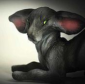 Субкультуры handmade. Livemaster - original item Mysim, black Oriental cat. Handmade.