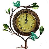 Для дома и интерьера ручной работы. Ярмарка Мастеров - ручная работа Часы настольные из металла Бирюзовые Птички. Handmade.