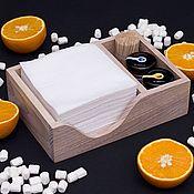 Для дома и интерьера handmade. Livemaster - original item Ash napkin holder with 2 compartments, color