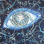 """Картины ручной работы. Ярмарка Мастеров - ручная работа Картина """" Вселенское Око """". Handmade."""