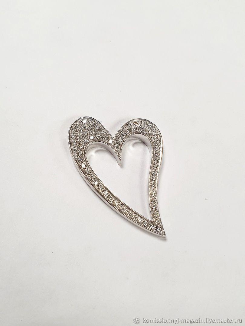 Подвеска золото 585 с бриллиантами 7.5гр, Подвеска, Екатеринбург,  Фото №1