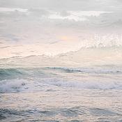Картины и панно handmade. Livemaster - original item Abstract sea Wave painting, Pink seascape picture photo. Handmade.