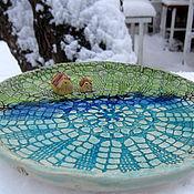 """Посуда ручной работы. Ярмарка Мастеров - ручная работа блюдо """"Голубая гладь озера"""". Handmade."""