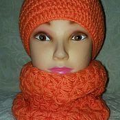 Аксессуары ручной работы. Ярмарка Мастеров - ручная работа Комплект шапка +шарф. Handmade.