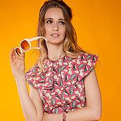 """Одежда ручной работы. Ярмарка Мастеров - ручная работа Платье трапеция  в стиле 60-х """"Сумеречный филин"""" 2. Handmade."""