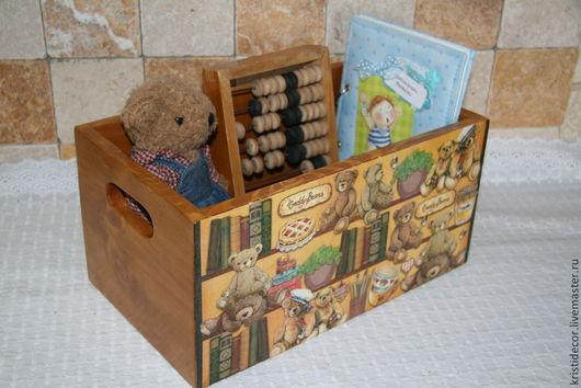 """Детская ручной работы. Ярмарка Мастеров - ручная работа. Купить Короб для игрушек """"Teddy Bears"""". Handmade. Короб для мелочей, подарок"""