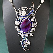 Necklace handmade. Livemaster - original item Absolutely Magnificent pendant (variant with purple agate). Handmade.