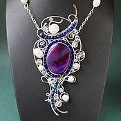 Украшения handmade. Livemaster - original item Absolutely Magnificent pendant (variant with purple agate). Handmade.