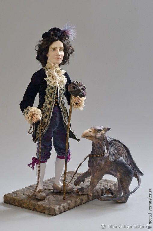 Прогулка с грифоном. Художественная кукла, Интерьерная кукла, Москва,  Фото №1