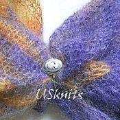 Аксессуары handmade. Livemaster - original item Tippet from knitted mohair and natural silk. Handmade.