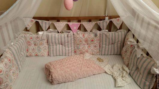 бортики , бортики в кроватку, подушечки, портики подушечки