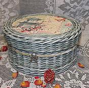 """Для дома и интерьера ручной работы. Ярмарка Мастеров - ручная работа Шкатулка плетеная """"Бабочки"""". Handmade."""