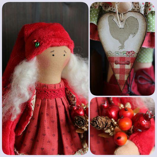 Куклы Тильды ручной работы. Ярмарка Мастеров - ручная работа. Купить Рождественская волшебная гномочка. Handmade. Тильда, гном, рождество