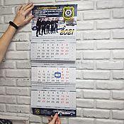 Канцелярские товары handmade. Livemaster - original item Wall calendar, custom design, your photos. Handmade.