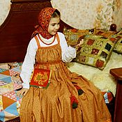 Русский стиль handmade. Livemaster - original item Sundress round