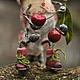 Гусеница Мико,Друзья Тедди(13 см,мохер,вискоза,папье-маше,стекл.глаки,мет.гранулят,проволока мет.)