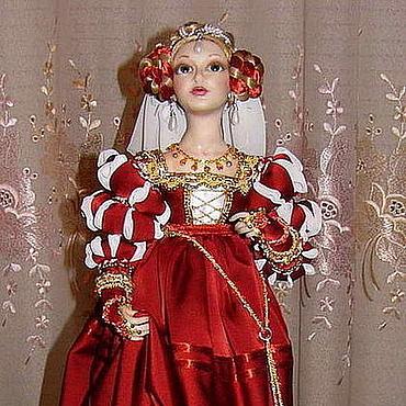 Куклы и игрушки ручной работы. Ярмарка Мастеров - ручная работа кукла Ренессанс. Handmade.