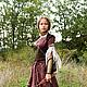 """Платья ручной работы. Ярмарка Мастеров - ручная работа. Купить Средневековый костюм """"Лучница"""". Кожаный корсет, верхнее платье и нижня. Handmade."""
