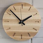 Часы классические ручной работы. Ярмарка Мастеров - ручная работа Часы настенные из бука (№6). Handmade.