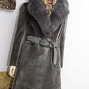 Одежда ручной работы. Ярмарка Мастеров - ручная работа Нерпа, серебристая, классика,  пояс 46. Handmade.