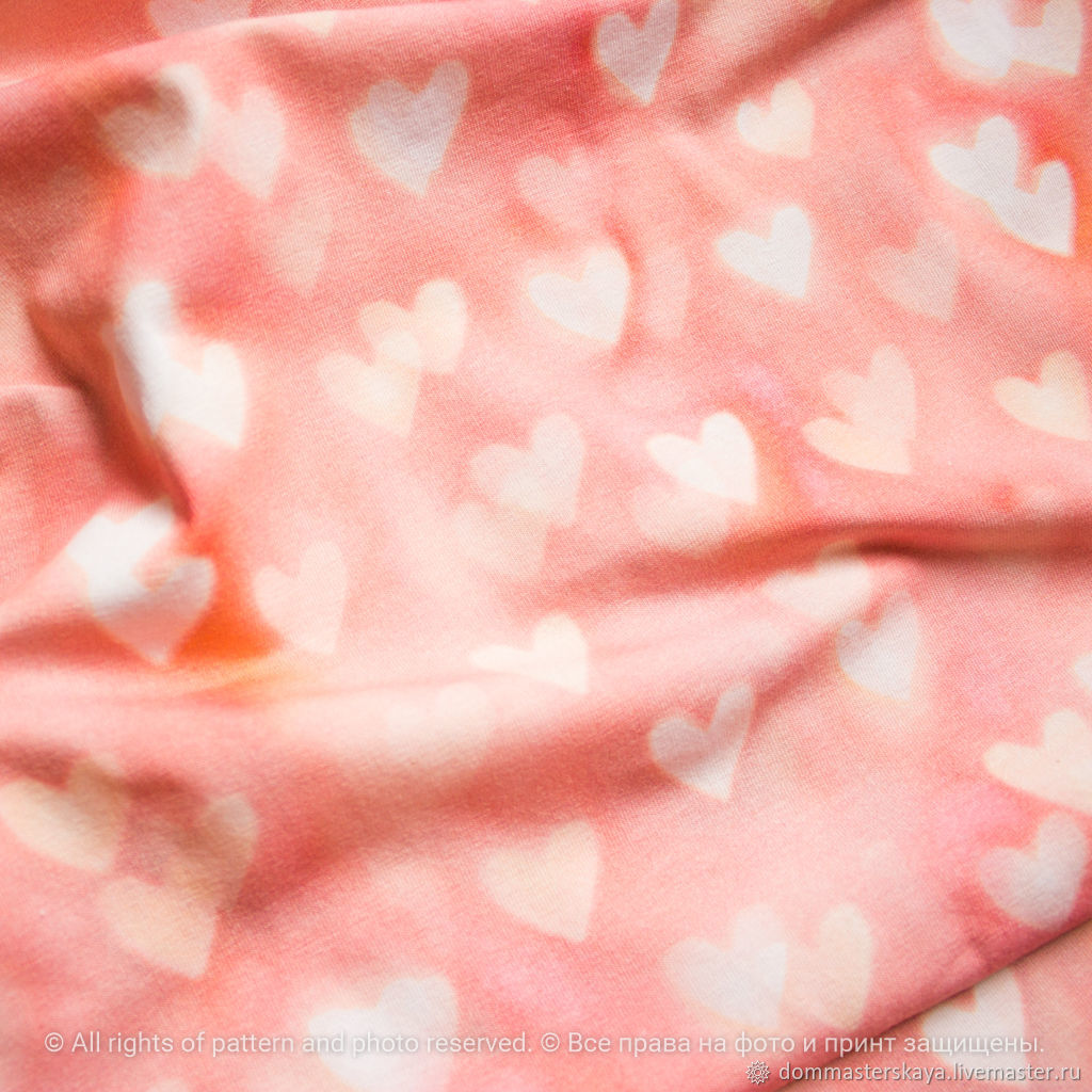 Footer Glowing hearts, Fabric, Moscow,  Фото №1