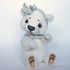 Мишки Тедди ручной работы. Ярмарка Мастеров - ручная работа. Купить Пеппина. Handmade. Белый, коллекционный медведь, миништоф