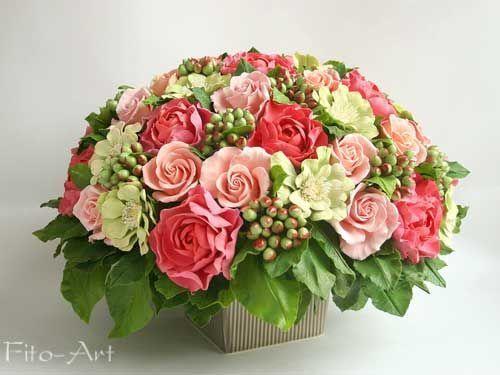 Букеты ручной работы. Ярмарка Мастеров - ручная работа. Купить Большой букет с розами и циниями. Handmade. Цветы, букет в подарок