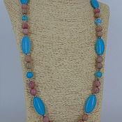 Украшения handmade. Livemaster - original item Beads of rhodonite stones and turkmenica. Handmade.