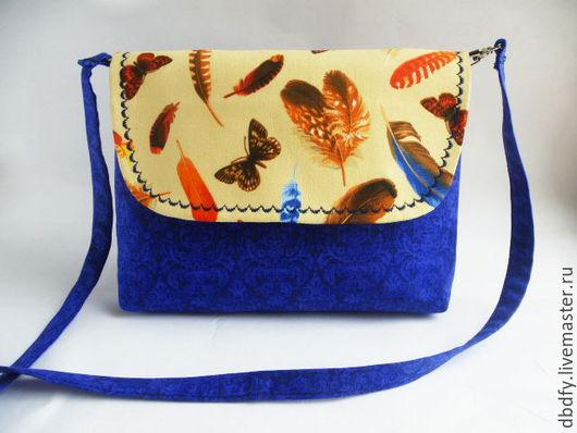 """Женские сумки ручной работы. Ярмарка Мастеров - ручная работа. Купить Сумочка """"Лети!"""". Handmade. Тёмно-синий, легкая сумка"""