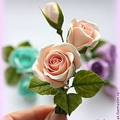 Украшения ручной работы. Ярмарка Мастеров - ручная работа бутоны роз нежно-персикового цвета ( зажим для волос). Handmade.