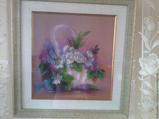 Картины цветов ручной работы. Ярмарка Мастеров - ручная работа. Купить Весеннее настроение. Handmade. Ткань с рисунком, корзина, подарок