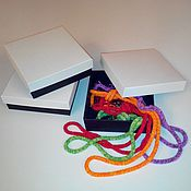 Материалы для творчества ручной работы. Ярмарка Мастеров - ручная работа Коробка бело-черная. Handmade.