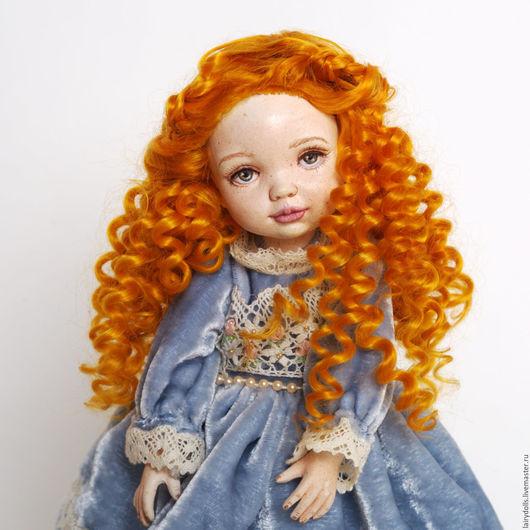 Коллекционные куклы ручной работы. Ярмарка Мастеров - ручная работа. Купить Кукла-Малышка Лиза. Handmade. Голубой, бусыгина ольга