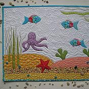 """Для дома и интерьера ручной работы. Ярмарка Мастеров - ручная работа Салфетка на стиральную машину """"Морское дно"""". Handmade."""
