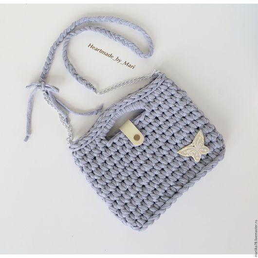 Женские сумки ручной работы. Ярмарка Мастеров - ручная работа. Купить Детская сумочка с бабочкой. Handmade. Серый, детская сумка