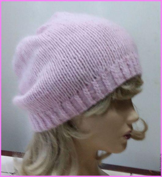 Шапки ручной работы. Ярмарка Мастеров - ручная работа. Купить Шапка из ангоры Розовая. Handmade. Бледно-розовый, шапка женская