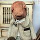 Мишки Тедди ручной работы. Митя и медведь. Вера Кондратьева (hmdolls). Ярмарка Мастеров. Teddy bear, коралловый, металлический гранулят