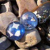 Винтаж handmade. Livemaster - original item In the depths of the river. Lucite earrings. the 1980s.. Handmade.