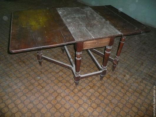 Реставрация. Ярмарка Мастеров - ручная работа. Купить Реставрация старинного раскладного стола из дуба.. Handmade. Коричневый, реставрация стола, антиквариат